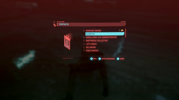 Cyberpunk 2077 Contacts Menu | Cd Project Red