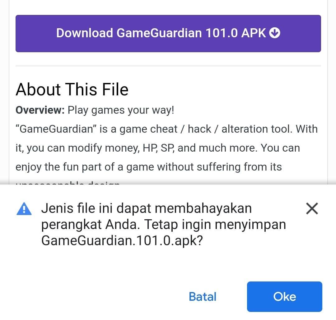 Begini Cara Download Game Guardian Dengan Mudah Terbaru 2021 Ok