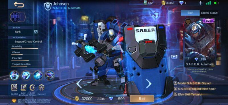 Hero ML Bisa Berubah  Jhonson