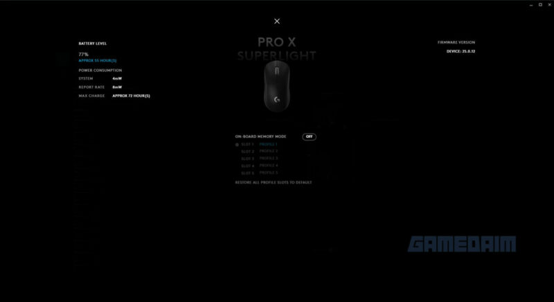 Logitech G Pro X Superlight Software 2 Gamedaim Review