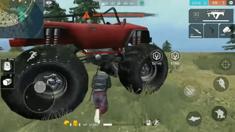 Monster Truck Free Fire