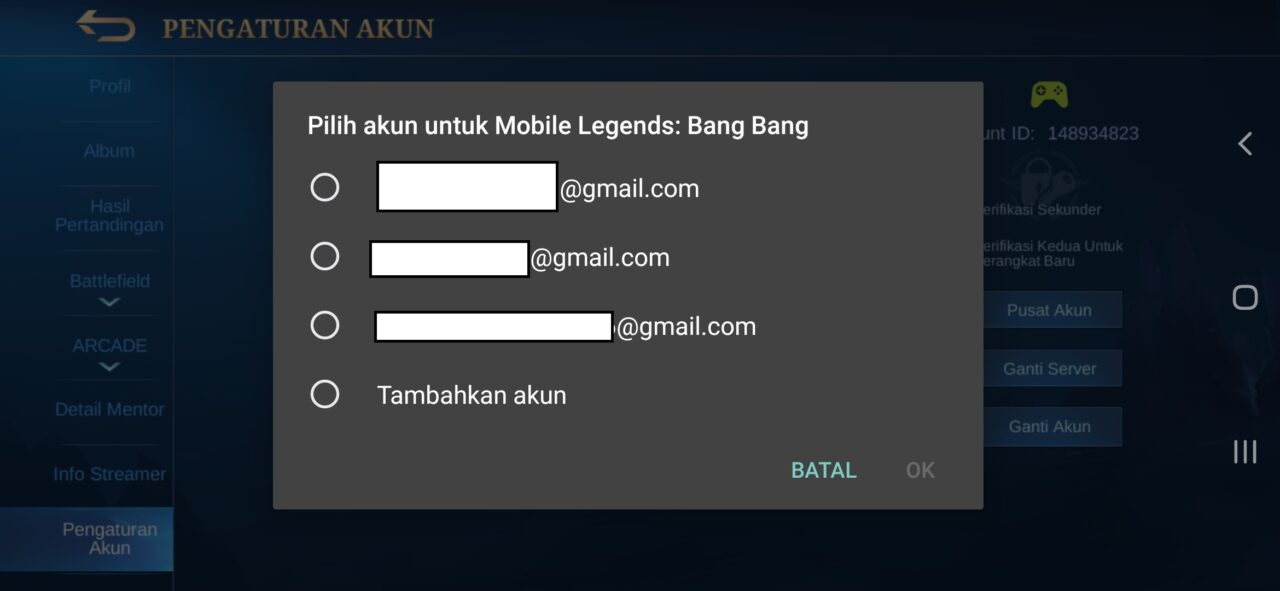 Pilih Email