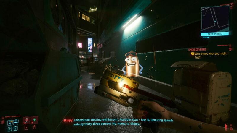 Skippy adalah senjata satu satunya yang dapat berbicara di game Cyberpunk 2077 | GamesRadar+