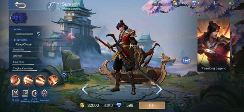 Marksman Mobile Legends Yi Sun Shin