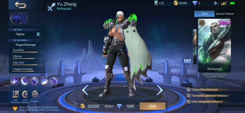 Yu Zhong Mobile Legends