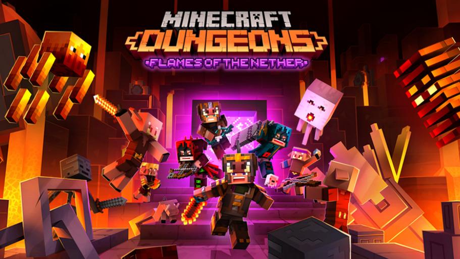 Minecraft Dungeons Dapatkan DLC Baru Berjudul Flames Of The Nether   Mojang
