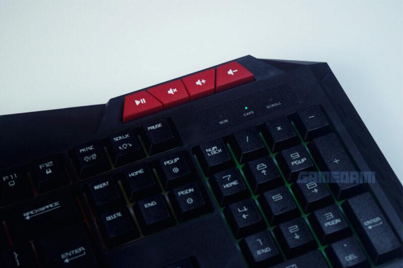 Fantech P31 Keyboard Multimedia Button Kanan Gamedaim Review