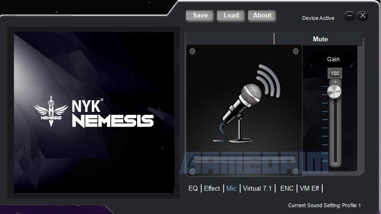 Nyk Nemesis Hs P18 Banshee Software Mic Gain Gamedaim Review