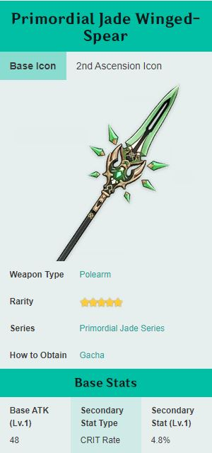Primordial Jade Winged Spear