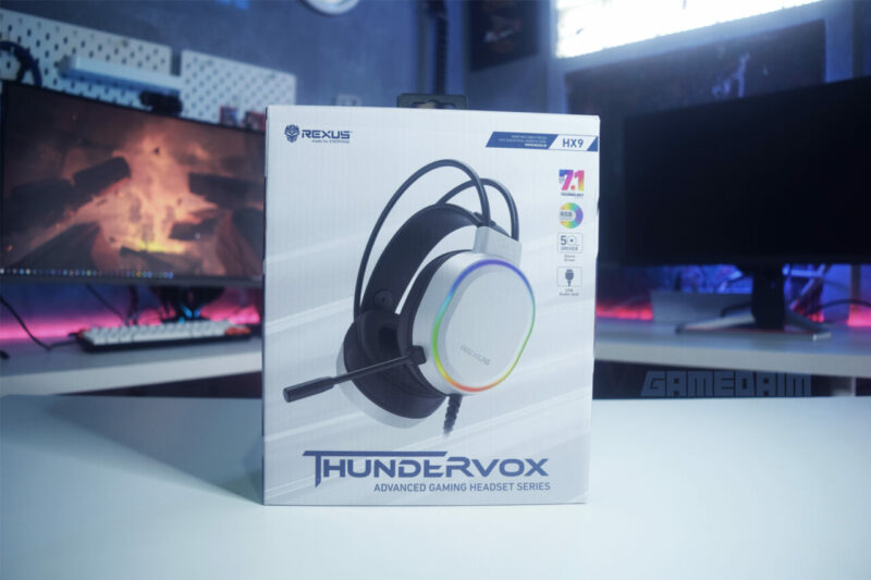 Rexus Thundervox Hx9 Box Depan Gamedaim Review