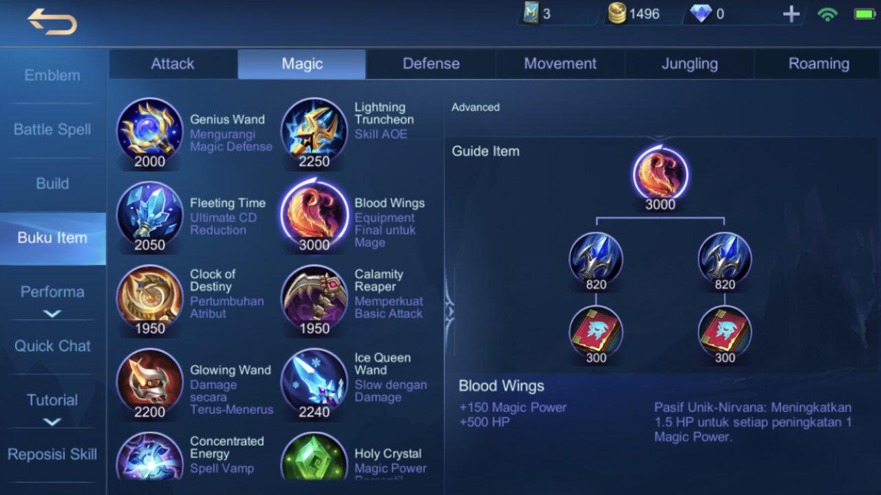 Blood Wings Item Mobile Legends