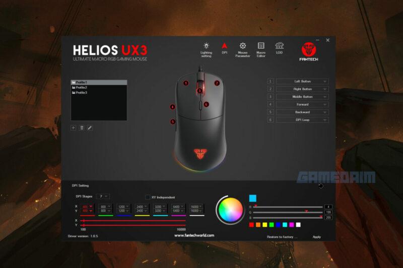 Fantech Helios Ux3 Software Dpi Gamedaim Review