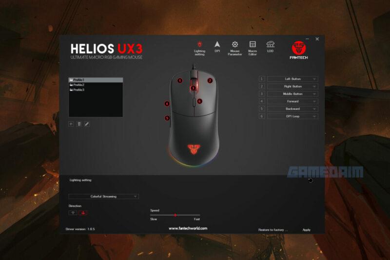Fantech Helios Ux3 Software Lighting Gamedaim Review