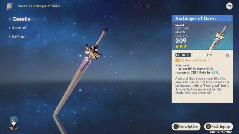 Harbinger Of Dawn | Senjata Bintang 3