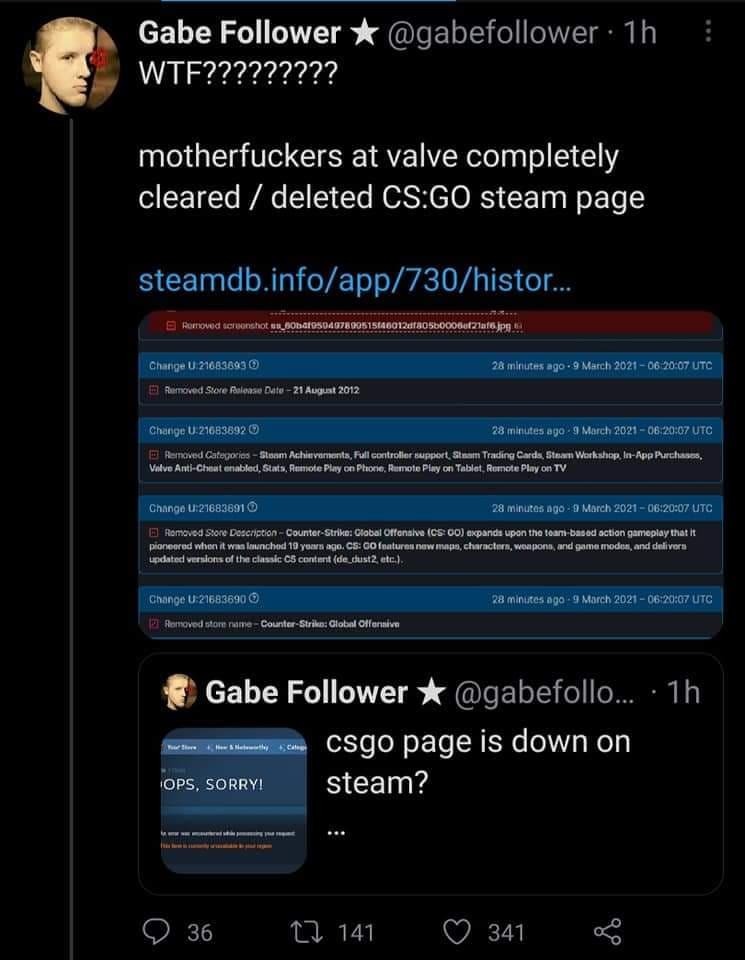 Valve Hapus Counter Strike Go Dari Steam