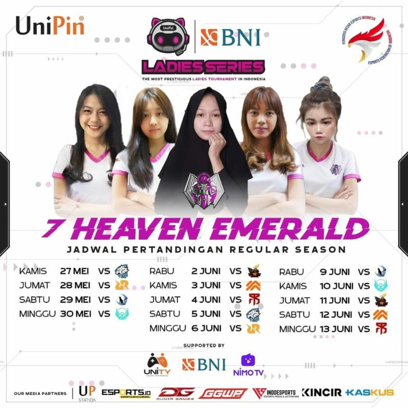 Jadwal 7 Heaven Emerald W1