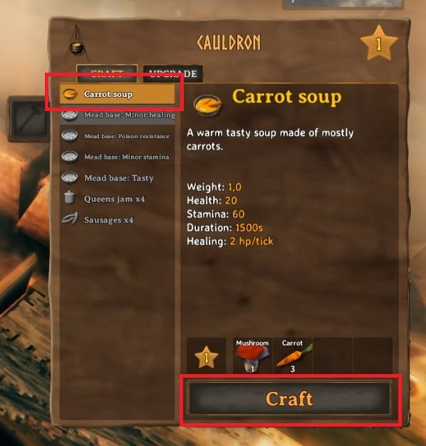 How To Make Carrot Soup In Valheim 4