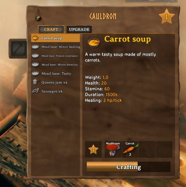 How To Make Carrot Soup In Valheim 5