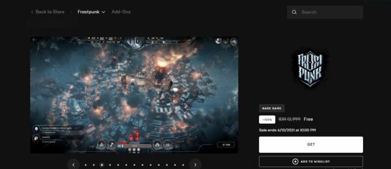 Simulasi Mengatur Kota Apocalyptic Dengan Elemen Survival Yang Kental | Frostpunk Epic Games