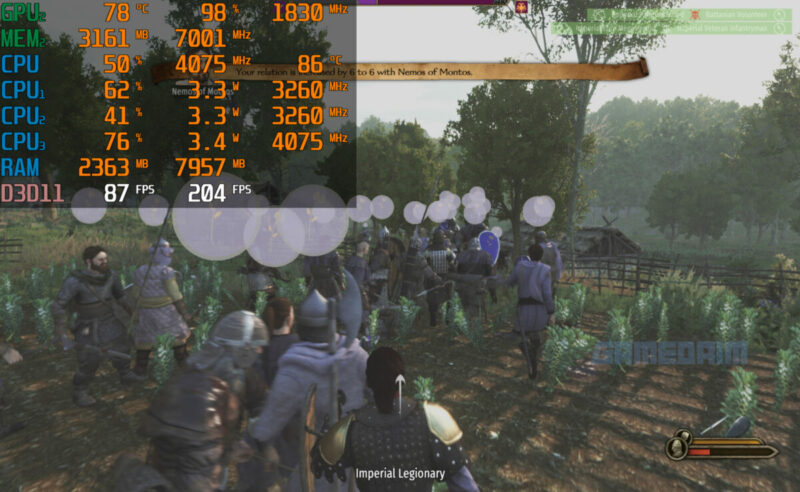 Benchmarking Bannerlord