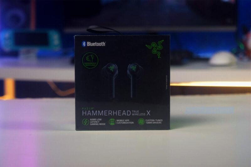 Razer Hammerhead True Wireless X Box Depan Gamedaim Review