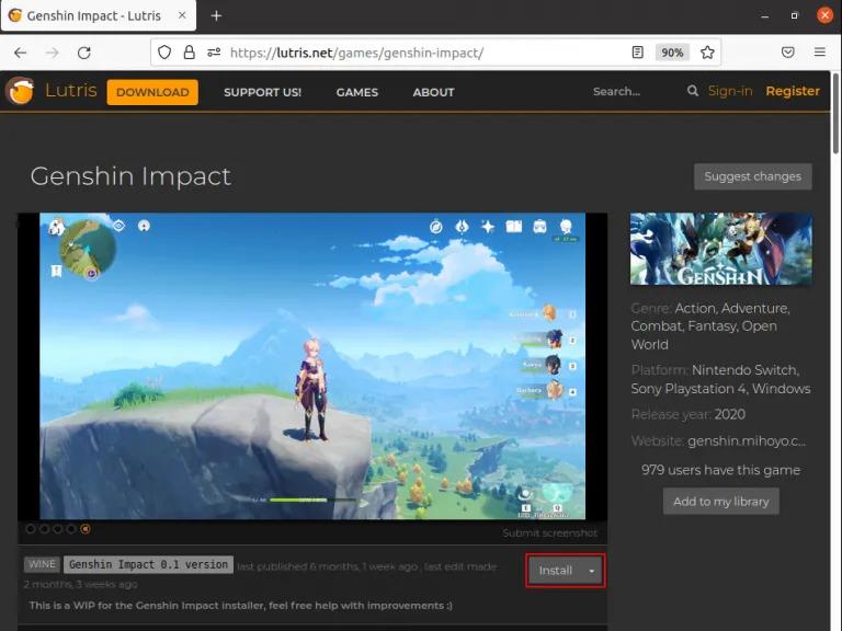 Linux Genshin Impact