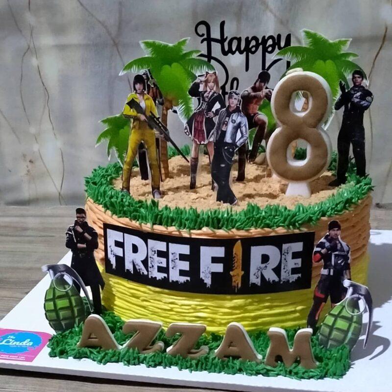 Kue ulang tahun Free Fire