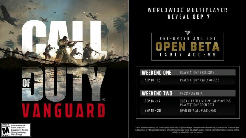 Activision Ungkap Tanggal Open beta dan Early Access Call of Duty Vanguard   Activision