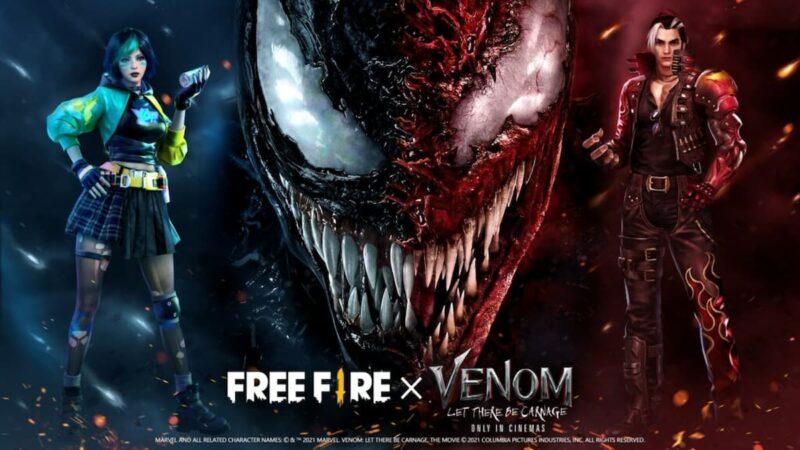 Kolaborasi Free Fire X Film Venom, Hadirkan Skin Ekskusif Venom