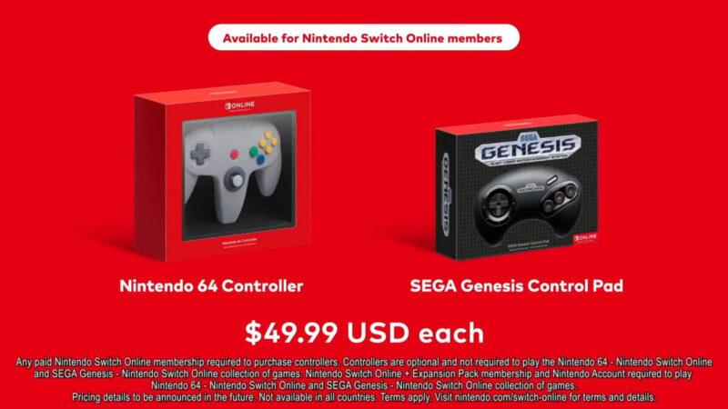 Switch Online Nintendo 64 SEGA Genesis