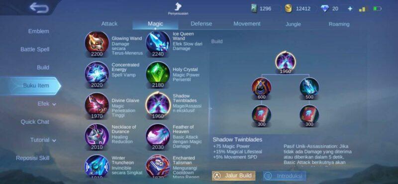 Build Kaja tersakit Shadow Twinblades