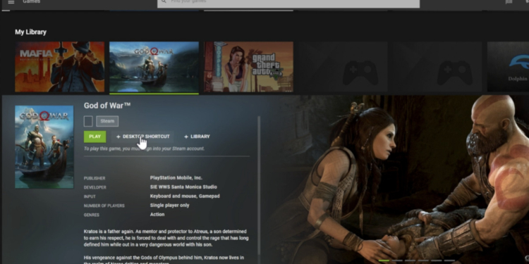GeForce NOW PlayStation PC