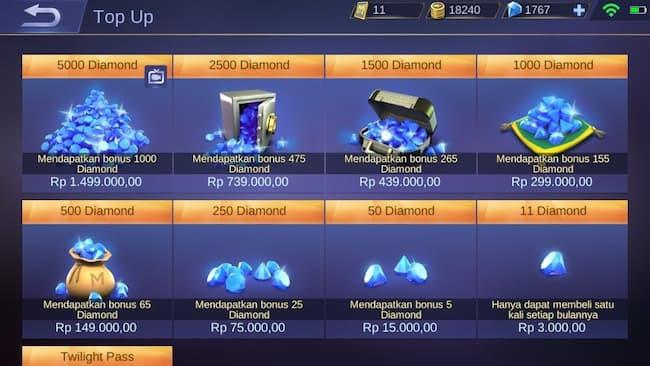 Diamond Mobile Legends Gratis