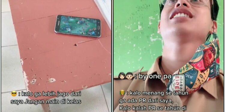 Guru Ini Ajak Muridnya By One Mobile Legends Karena Bermain Handphone Di Kelas